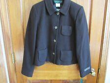 HARVE BERNARD Petites 4 Button Cashmere Blend Blazer or Jacket - Sz. 8P - BROWN