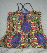 Colourful Patterned Tribal Print Summer Cami Vest Top Strappy Racer Back UK 6