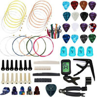 66pcs Guitar Changing Accessories Kit Playing Maintenance Tool Set Strings  TBO