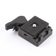 Quick Release Plate With Clamp Adapter For Manfrotto 200PL-14 323 RC2 Tripod Fit