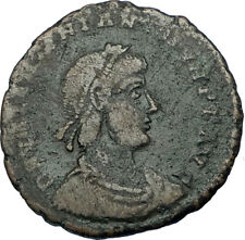 VALENTINIAN II w Woman 378AD Constantinople Authentic Ancient Roman Coin i65800