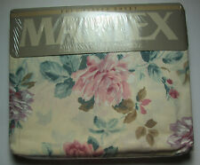 FULL FITTED SHEET - Pink & Purple Cottage Chic Roses - MARTEX Victorian Bouquet