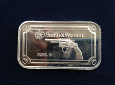 1993 SilverTowne Smith & Wesson Model 10 ST-241 Silver Art Bar P2385