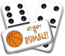 Sports Series Basket Ball Design Double six Professional size Dominoes