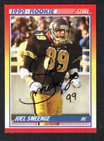 Joel Smeenge #294 signed autograph auto 1990 Score Football Trading Card