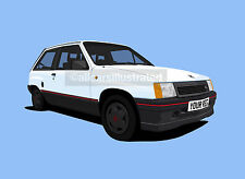 VAUXHALL Nova SR Car Art Print Add Reg Details Choose Your Colour