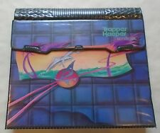 Vintage 1980s Mead Trapper Keeper Notebook Dolphins Palm Trees Grid Design
