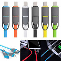Super Fast Charging 2 in 1 Micro USB Data Charger Cable For iPhones and Android