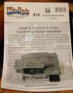 Kadee #814 (S Scale) Coupler Height Gauge for S Scale Equipment