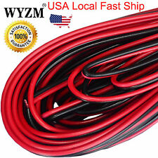 10m 33ft 20awg Gauce Black and Red Extension Cable Wire Cord for Led Strips Car