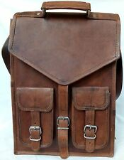 New Clasic Men's and Women's Large Leather Backpack Rucksack Travel Bag Laptop