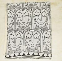 Vintage Multicolor Hand painted Kalamkari Doll Face Silk Cotton Saree Sari