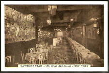 COWBOY PIANO BAR Saw Dust Trail NEW YORK NYC Vintage Advertising Photo Postcard
