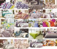 100% Cotton Percale Duvet cover Bedding Sets Single, Double King and Super King