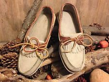 90s  TIMBERLAND  MOCCASIN SHOES 70081 STONE SIZE 8.5 MADE USA