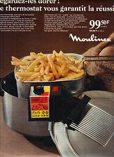 PUBLICITE ADVERTISING 122 1968     MOULINEX  friteuse éléctrique          101212