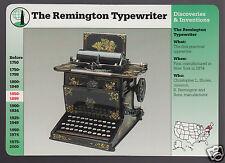 THE REMINGTON TYPEWRITER Original Model Photo GROLIER STORY OF AMERICA CARD