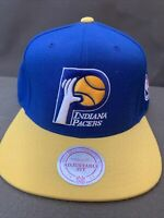 Indiana Pacers Mitchell And Ness Blue/Yellow NBA Cap Adjustable