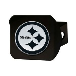 Fanmats NFL Pittsburgh Steelers 3D Chrome on Black Metal Hitch Cover Del 2-4 Day
