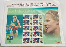 2001 Goodwill Games Souvenir Tatiana Grigorieva Sheet stamps