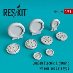 Reskit RS48-0302 - 1/48 English Electric Lightning Wheels set Late type scale