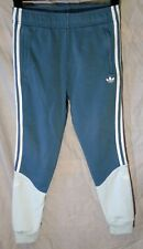 New listing Boys Adidas Slate Blue Grey Panelled Cuffed Tracksuit Bottoms Age 12-13 Years