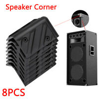 8PCS Corner Right Angle Protector for Speaker Cabinet Gugitar Amplifier Black SS