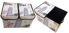 Storage Box with Lid Upholstered Paris ROM England London Box
