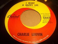 """CHARLIE LOUVIN """" I WANT A HAPPY LIFE """" 7"""" SINGLE 1966 EXCELLENT CAPITOL 5665"""