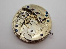 Vintage Antique Pocket watch movement Ladies circa 1885 Illinois Hunting 34.8mm