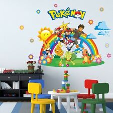 Pokemon - Pikachu, Ash & Friends Rainbow - 3D Go Wall Mural Decals Stickers