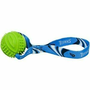 NEW! TENNESSEE TITANS NFL RUBBER BALL TUG TOSS DOG TOY LICENSED