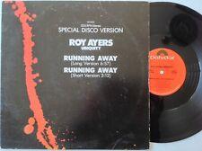 "ROY AYERS RUNNING AWAY 12"" VINYL RECORD U.S MASTER DISK 1977 JAZZ FUNK SOUL"