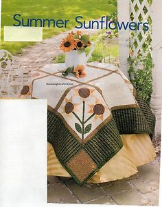 Summer Sunflowers Quilt Pattern Pieced/Applique JW