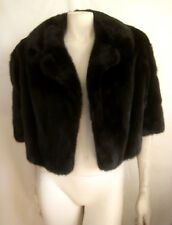 Luxe Birger Christensen BLACK MINK Fur Bolero Coat Jacket ~Ultimate Luxury Gift