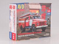 Kit model truck 1:43 GAZ-53 Fire tanker AC-30-106A
