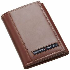 New Tommy Hilfiger Cambridge Men's Tan Leather Trifold Wallet 5676/04