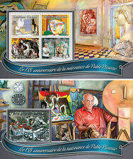 Pablo Picasso Paintings Cubism Surrealism Art Togo MNH stamp set 2 sheets