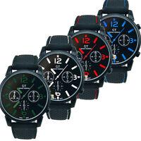 1PC Mens Fashion Stainless Steel Sport Cool Quartz Hours Wrist Analog Watch UK