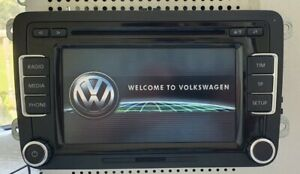 VW RCD 510 With Code 6 CD Changer Radio SD Golf Caddy T5.1 Polo Passat Tiguan