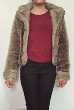 womens faux fur wolf stripe jacket by MISO