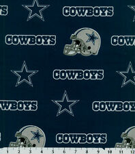 NFL DALLAS COWBOYS BLUE 100% COTTON FABRIC BY THE 1/2 YARD