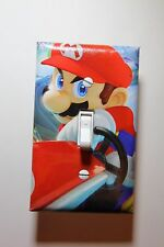 Mario Kart 8 Video Game Light Switch Cover Plate gamer room decor nintendo wii u