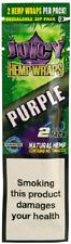 JUICY ORGANIC WRAPS Rolling Papers 2 Pcs Pack Grape (Purple)