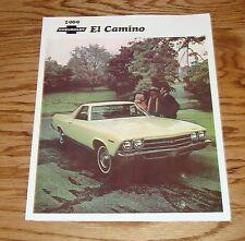 1969 Chevrolet El Camino Foldout Sales Brochure 69 Chevy