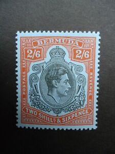1950 BERMUDA 2/6- black & orange-red Perf 13 SG117c MNH unmounted mint