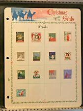 13 Local Christmas Seals Hinged on Display Page Waukesha Norfolk More - #5752