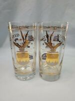 2 Vintage U.S. AIR FORCE ACADEMY Tumblers Barware Drinking Glass 12 oz.