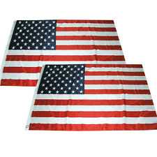 2 Pack - 3x5 ft American Usa Flag Stars Grommets Us United States Polyester b