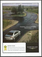CHRYSLER SEBRING LXi SEDAN - 2001 Automotive Print Ad
